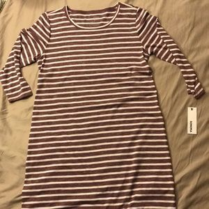 Long sleeve stripped dress